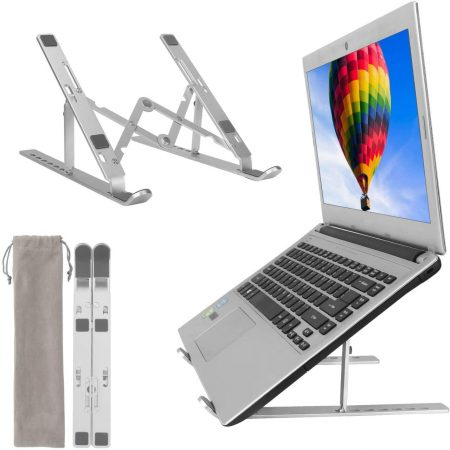 Soporte Aluminio para Portatil y Tablet Plegable 3